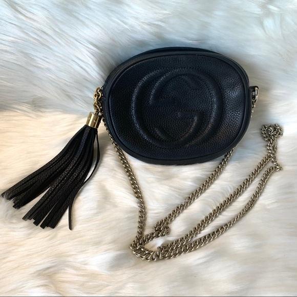 Gucci Handbags - Authentic Gucci Mini Soho Disco Chain Bag Black